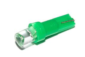 Светодиодная лампа AllLight T 5  1 диод LED W2*4.6d 12V GREEN