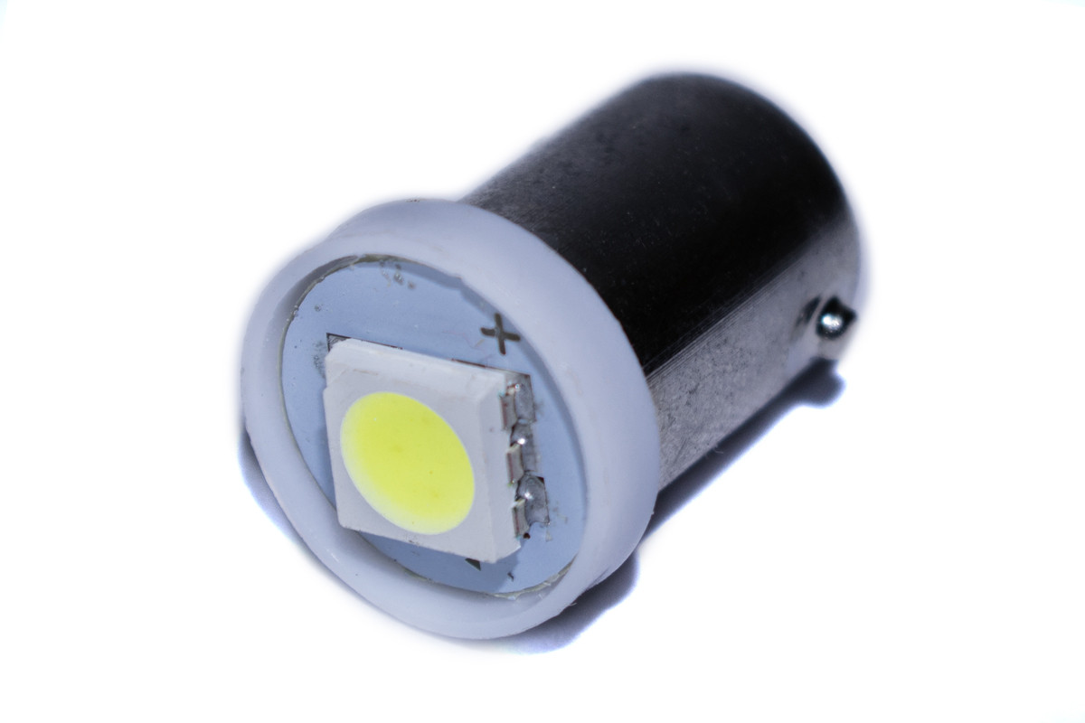 Светодиодная лампа AllLight T 8.5  1 диод 5050 BA9S 12V 0.45W WHITE