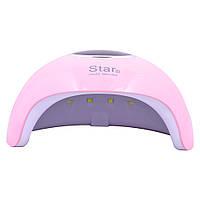 LED/UV Лампа STAR 6 гибридная (с дисплеем) розовая 24 Вт