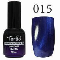 Гель-лак №015 CAT EYES (королівський синій магнітний) 10 мл Tertio