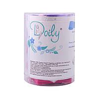 Салфетки 6см х 6см безворсовые (400шт в тубусе) (пл. 45 г/м2)  Doily