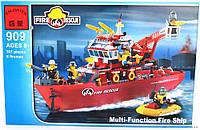 Конструктор Brick 909 Пожарный катер, 361 дет. В КОРОБКЕ