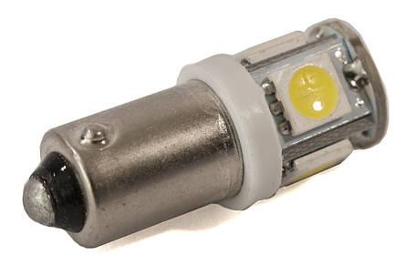 Светодиодная лампа AllLight T 8.5 5 диодов 5050 BA9S 24V WHITE, фото 2