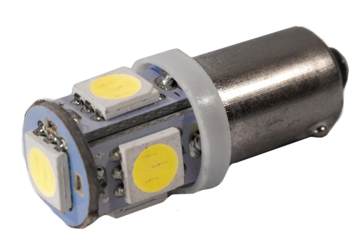 Светодиодная лампа AllLight T 8.5 5 диодов 5050 BA9S 24V WHITE
