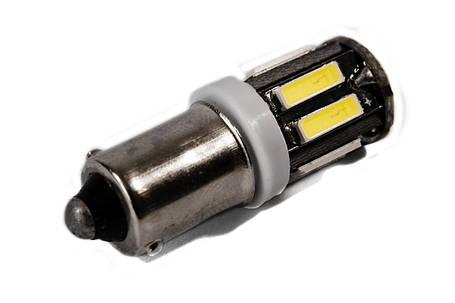 Светодиодная лампа AllLight T 8.5 10 диодов 7014 BA9S 12V WHITE, фото 2