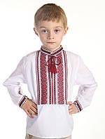 Сорочка для мальчика с тканой нашивкой 0114, фото 1