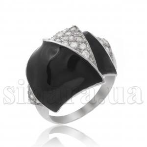 Серебряное кольцо с эмалью 29197