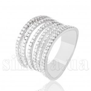 Серебряное кольцо Семь переплетов 28349