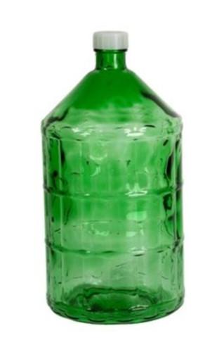 Бутель склянний 22л з пластиковою кришкою