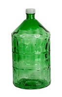 Бутыль стеклянный 22л с пластиковой крышкой