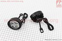 Фара дополнительная светодиодная влагозащитная (65*55mm) - 4 LED с креплением под зеркало, к-кт 2шт