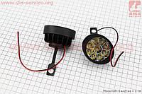 Фара дополнительная светодиодная влагозащитная (65*55mm) - 9 LED с креплением под зеркало, к-кт 2шт