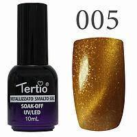 Гель-лак №005 CAT EYES (світло-коричневий )10 мл Tertio