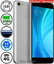 Смартфон Xiaomi Redmi Note 5A 2/16Gb Grey MIUI 10 Global 4G