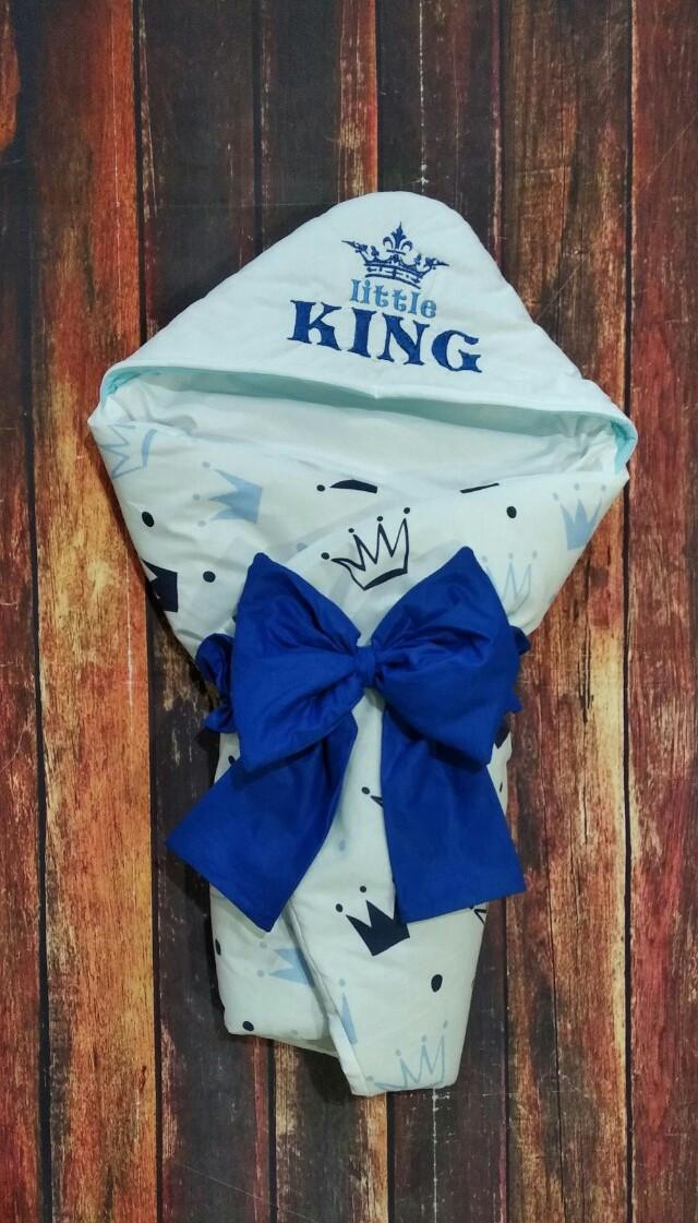 Конверт-ковдру на виписку з вишивкою Маленький Король