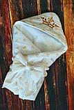 Конверт-ковдру на виписку з вишивкою Маленький Король, фото 5