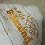Конверт-ковдру на виписку з вишивкою Маленький Король, фото 9