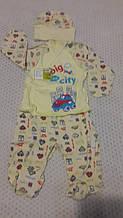 Набор шапочка+кофточка+штанишки для новорожденного,раз. 56 Украина