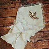 """Конверт-одеяло для новорожденного Маленький принц"""", хлопок 78*78 см, фото 5"""