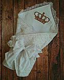 """Конверт-одеяло для новорожденного Маленький принц"""", хлопок 78*78 см, фото 6"""