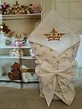 """Конверт-одеяло для новорожденного Маленький принц"""", хлопок 78*78 см, фото 8"""