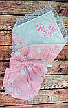 """Конверт-одеяло для новорожденного Маленький принц"""", хлопок 78*78 см, фото 9"""