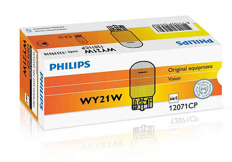 Автолампа ук. PHILIPS 12071CP WY21W 12V 21W WX3x16d, фото 2