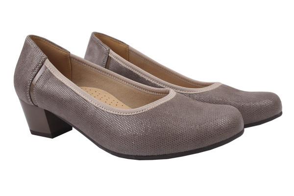 Туфли женские на каблуке Galant натуральная замша, цвет визон, Польша.
