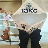 Всесезонный конверт с вышивкой на выписку  Принц, фото 6