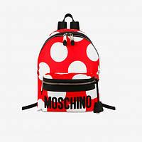 Нейлоновый рюкзак в горошек от Moschino