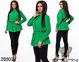 Блуза женская застегивается на пуговицы, в поясе на шнуровке  размер 48,50,52,54, фото 4