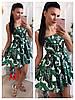 Платье, ткань: стрейч катон. Размер: 42/44 44/46. Цвет: зеленый (6223), фото 2