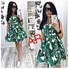 Платье, ткань: стрейч катон. Размер: 42/44 44/46. Цвет: зеленый (6223), фото 3