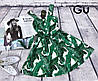 Платье, ткань: стрейч катон. Размер: 42/44 44/46. Цвет: зеленый (6223), фото 4