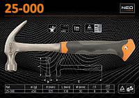 Молоток плотничий m-450гр., NEO 25-000, фото 1