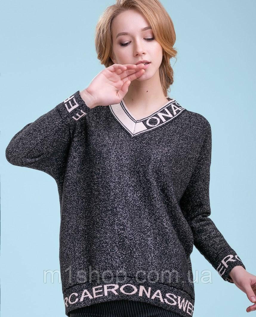 Женский пуловер с надписями (3288 svt)