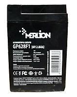 Аккумуляторная батарея MERLION GP628F1 6V -2,8Ah