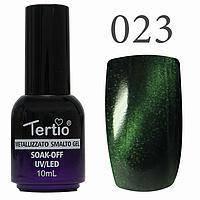 Гель-лак №023 CAT EYES (смарагдовий магнітний) 10 мл Tertio