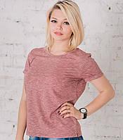 Женская футболка Боно (шоколадный меланж), фото 1