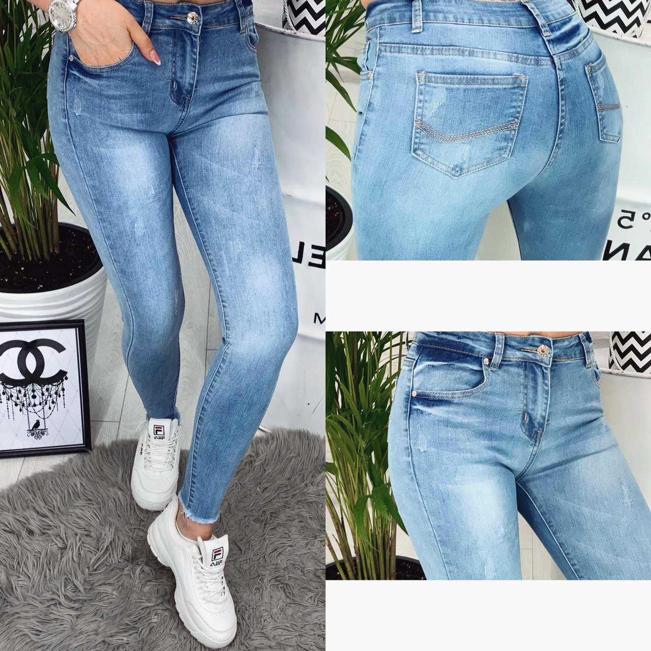 Американка голубая с царапками ( 2353 New jeans )