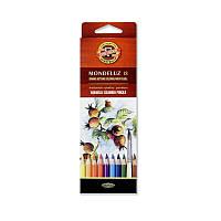 Цветные акварельные карандаши koh-i-hoor 3717018001ks mondeluz на 18 цветов