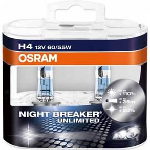 Автолампа OSRAM 64193NBU NightBreakerUnlimited +110% H4 60/55W 12V P43T 10X2 HardDuopet, фото 2