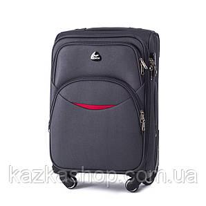 Тканевой чемодан Wings 1708 на 4 колеса, Польша, телескопическая ручка, металлический каркас