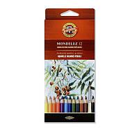 Цветные акварельные карандаши koh-i-hoor 3716012001ks mondeluz на 12 цветов