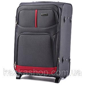 Тканевой чемодан Wings 206-2 на 2 колеса, Польша, телескопическая ручка, металлический каркас