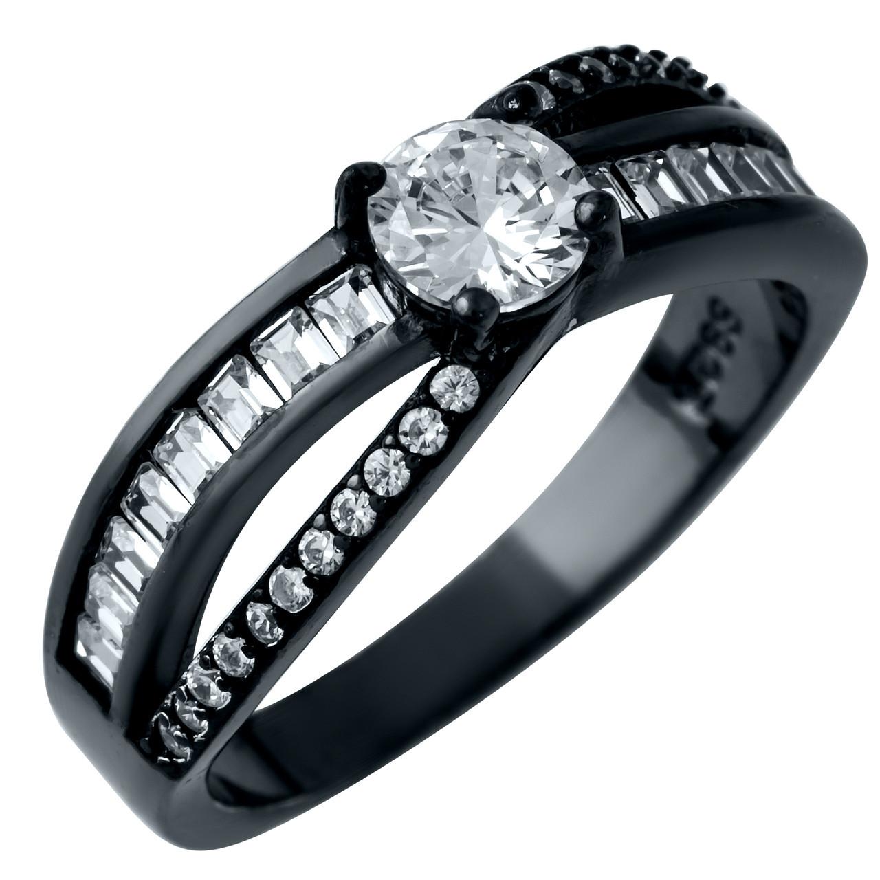 Серебряное кольцо 925 пробы с фианитами
