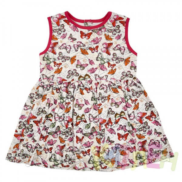 """Детское летнее платье """"Бабочки"""" для девочек"""