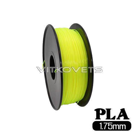 Пластиковая нить PLA, 1.75 мм, 1 кг (желтый), фото 2