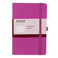 Блокнот записная книга axent 8201-05-a пурпурный partner 125*195 мм в клетку 96 листов