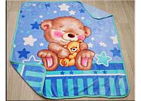 Одеялко плед вельсофт махра новорожденным